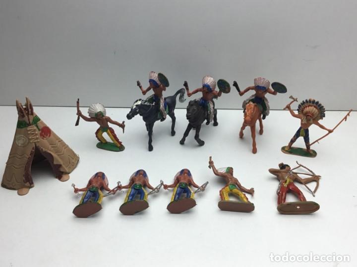 FIGURAS ANTIGUOS INDIOS DEL OESTE - PECH, JECSAN, REAMSA, TEIXIDO, OLIVER, COMANSI - AÑOS 70 (Juguetes - Figuras de Goma y Pvc - Otras)
