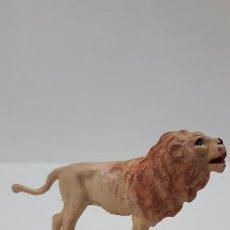 Figuras de Goma y PVC: LEON . REALIZADO POR GAMA . AÑOS 50 EN GOMA. Lote 194263647