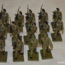 Figuras de Goma y PVC: 14 SOLDADOS PARACAIDISTAS ESPAÑOLES / ANTIGUOS - PLÁSTICO / PVC - REAMSA / GOMARSA ¡MIRA FOTOS!. Lote 194271418