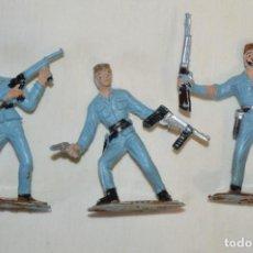 Figure di Gomma e PVC: 3 SOLDADOS CUBANOS / DE COMANSI / NOVOLINEA - ANTIGUOS - PLÁSTICO / PVC - ¡MIRA FOTOS!. Lote 194274042