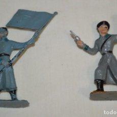 Figuras de Goma y PVC: 2 SOLDADOS RUSOS / DE COMANSI / NOVOLINEA - ANTIGUOS - PLÁSTICO / PVC - ¡MIRA FOTOS!. Lote 194284756