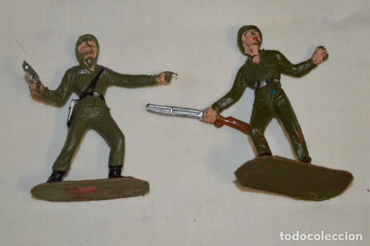 Figuras de Goma y PVC: 2 SOLDADOS AMERICANOS y 2 TANQUES / De COMANSI / NOVOLINEA - Antiguos - Plástico / PVC ¡Mira fotos! - Foto 3 - 194287285