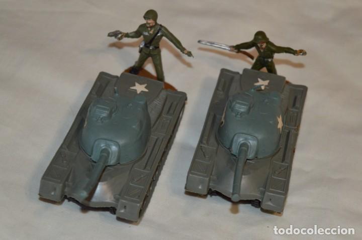 Figuras de Goma y PVC: 2 SOLDADOS AMERICANOS y 2 TANQUES / De COMANSI / NOVOLINEA - Antiguos - Plástico / PVC ¡Mira fotos! - Foto 11 - 194287285
