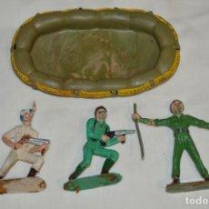Figure di Gomma e PVC: 3 SOLDADOS VARIADOS Y ZODIAC / DE COMANSI / NOVOLINEA - ANTIGUOS - PLÁSTICO / PVC ¡MIRA FOTOS!. Lote 194288560