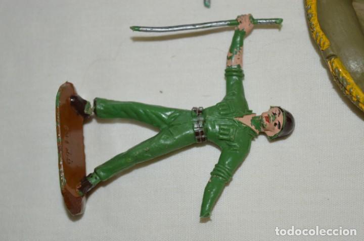 Figuras de Goma y PVC: 3 SOLDADOS VARIADOS y ZODIAC / De COMANSI / NOVOLINEA - Antiguos - Plástico / PVC ¡Mira fotos! - Foto 5 - 194288560