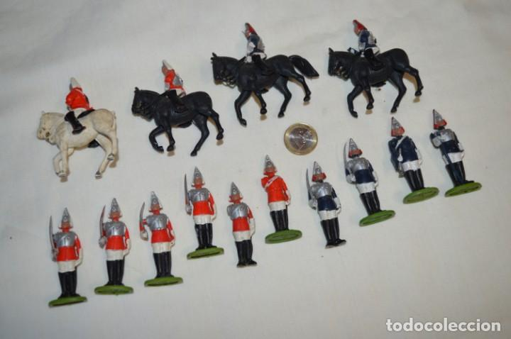 Figuras de Goma y PVC: 14 SOLDADOS VARIADOS y CABALLOS / De FOR BRITAINS LTD. - Antiguos - Plástico / PVC ¡Mira fotos! - Foto 2 - 194291180