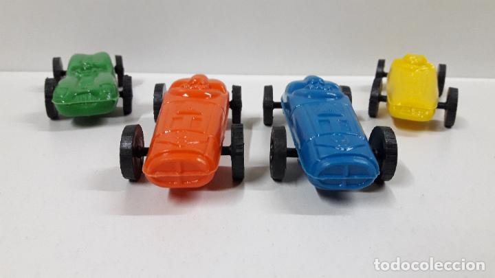 Figuras de Goma y PVC: BOLIDOS DE CARRERAS . REALIZADOS EN PLASTICO INFLADO . JUGUETE KIOSCO . AÑOS 70 - Foto 2 - 194297048