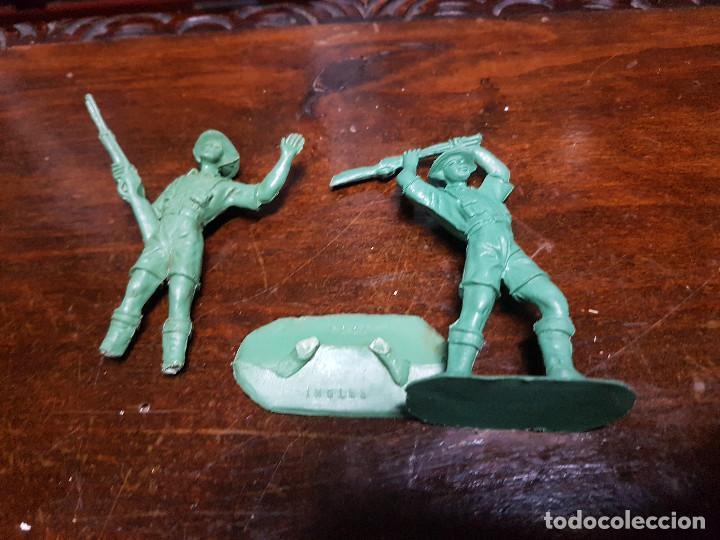 Figuras de Goma y PVC: 105 figuras Reamsa, Comansi, Pech, jJecsan años 40/50 indios, vaqueros, militares, soldados animales - Foto 21 - 194305117