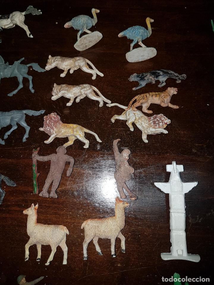 Figuras de Goma y PVC: 105 figuras Reamsa, Comansi, Pech, jJecsan años 40/50 indios, vaqueros, militares, soldados animales - Foto 28 - 194305117