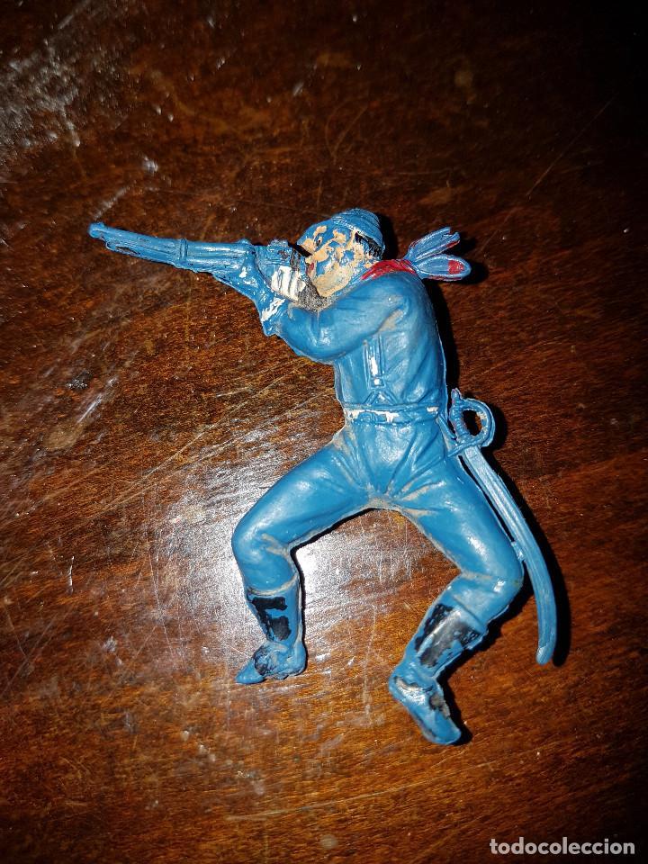 Figuras de Goma y PVC: 105 figuras Reamsa, Comansi, Pech, jJecsan años 40/50 indios, vaqueros, militares, soldados animales - Foto 31 - 194305117