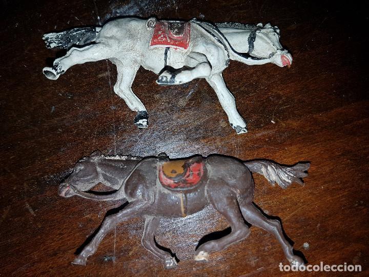 Figuras de Goma y PVC: 105 figuras Reamsa, Comansi, Pech, jJecsan años 40/50 indios, vaqueros, militares, soldados animales - Foto 32 - 194305117