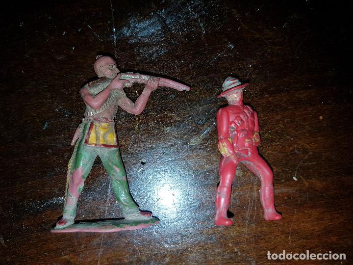 Figuras de Goma y PVC: 105 figuras Reamsa, Comansi, Pech, jJecsan años 40/50 indios, vaqueros, militares, soldados animales - Foto 33 - 194305117