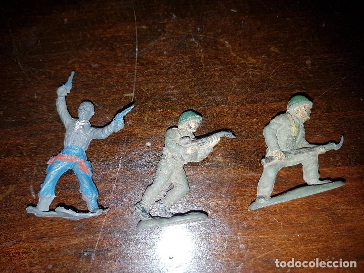 Figuras de Goma y PVC: 105 figuras Reamsa, Comansi, Pech, jJecsan años 40/50 indios, vaqueros, militares, soldados animales - Foto 36 - 194305117