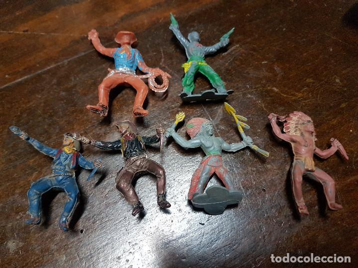 Figuras de Goma y PVC: 105 figuras Reamsa, Comansi, Pech, jJecsan años 40/50 indios, vaqueros, militares, soldados animales - Foto 37 - 194305117