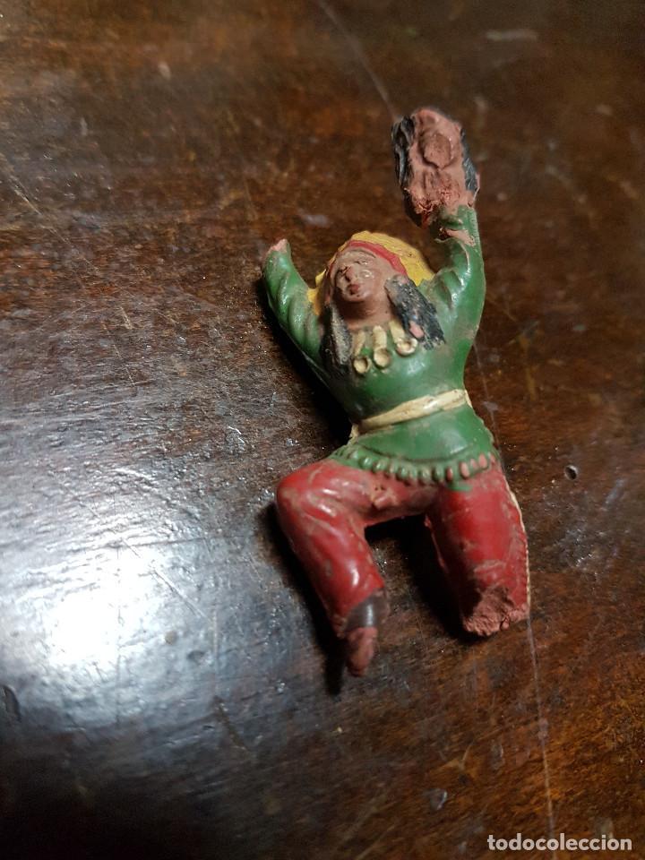 Figuras de Goma y PVC: 105 figuras Reamsa, Comansi, Pech, jJecsan años 40/50 indios, vaqueros, militares, soldados animales - Foto 38 - 194305117