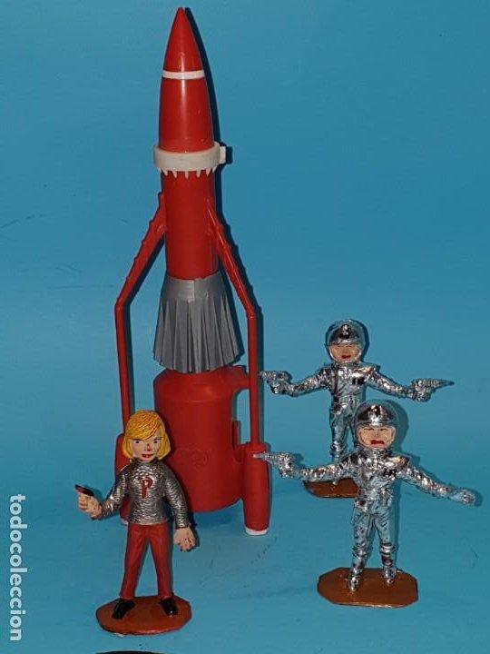 Figuras de Goma y PVC: Lote varias figuras de COMANSI, serie Thunderbirds, años 60. - Foto 3 - 194308681