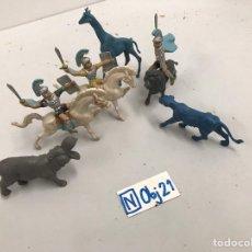 Figuras de Goma y PVC: LOTE DE FIGURAS ANTIGUA PLÁSTICO PINTADAS. Lote 194326657