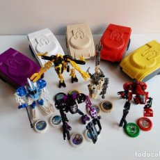 Figuras de Goma y PVC: LEGO LOTE 5 ROBOT TECHNIC CON TAZOS EN SUS CAJAS. Lote 194329405