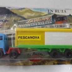 Figuras de Goma y PVC: CAMION PESCANOVA EN BLISTER ORIGINAL - LA ILUSION . AÑOS 70. Lote 194368582