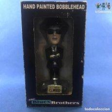 Figuras de Goma y PVC: FIGURA ELWOOD - THE BLUES BROTHERS - HAND PAINTED BOBBLEHEAD- CABEZON. Lote 194374367
