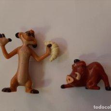 Figuras de Goma y PVC: DISNEY, LOTE FIGURAS TIMON (PROMOCIONAL NESTLE) Y PUMBA (KINDER). Lote 194385602