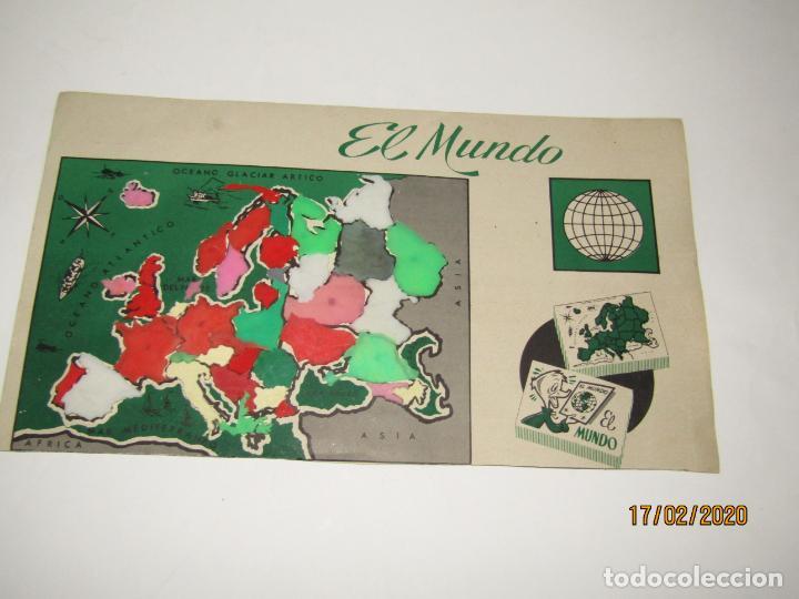 ANTIGUO MAPA PUZZLE PAISES DE EUROPA OBSEQUIO DE PIPAS CAMPEON - ARIAS - EL MUNDO AÑO 1960-70S. (Juguetes - Figuras de Goma y Pvc - Pipero)