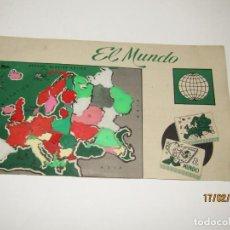 Figuras de Goma y PVC: ANTIGUO MAPA PUZZLE PAISES DE EUROPA OBSEQUIO DE PIPAS CAMPEON - ARIAS - EL MUNDO AÑO 1960-70S.. Lote 194389240