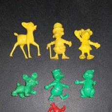 Figuras de Goma y PVC: FIGURAS DUNKIN. COLECCION DISNEY. COMPLETA. Lote 194393382