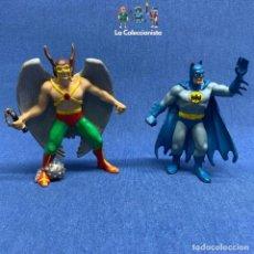 Figuras de Goma y PVC: LOTE DE DOS FIGURAS DC COMICS - HALCÓN 1991 Y BATMAN 1990. Lote 194407147