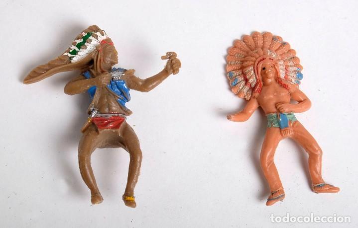 Figuras de Goma y PVC: Lote de 7 figuras de indios de diferentes marcas y años. Comansi, Pech, Lafredo, Reamsa... - Foto 5 - 194436715