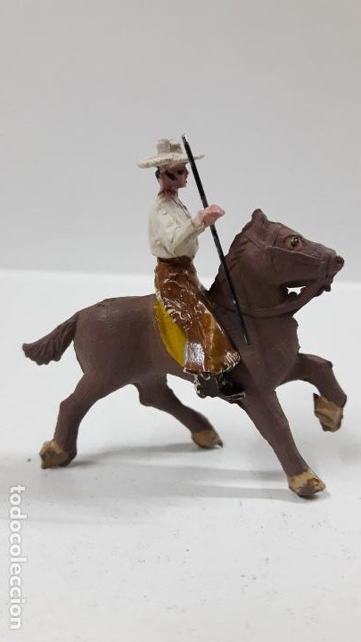 Figuras de Goma y PVC: REJONEADOR A CABALLO . REALIZADO POR PECH . SERIE PEQUEÑA - MUNDO TAURINO . AÑOS 50 EN GOMA - Foto 5 - 194460491