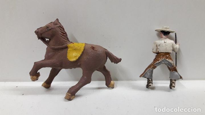 Figuras de Goma y PVC: REJONEADOR A CABALLO . REALIZADO POR PECH . SERIE PEQUEÑA - MUNDO TAURINO . AÑOS 50 EN GOMA - Foto 8 - 194460491