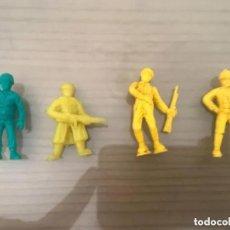Figuras de Goma y PVC: ANTIGUAS FIGURAS DUNKIN MILITARES SOLDADOS. Lote 194491850
