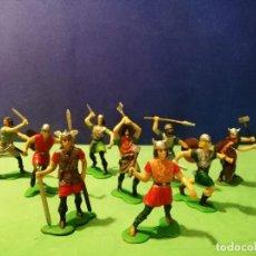 Figuras de Goma y PVC: VIKINGOS: JECSAN, PECH, MARX. Lote 194494963