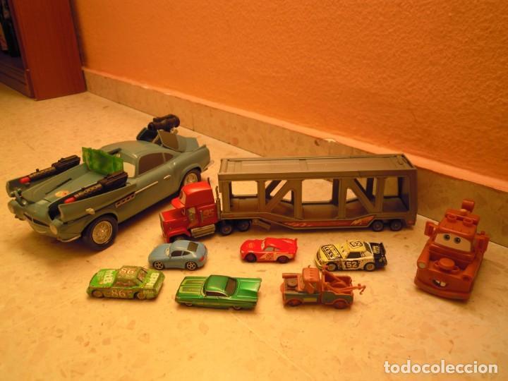 LOTE CARS DISNEY PIXAR MACK CAMION RAYO MCQUEEN, MC MISSILE SPY,COCHES GRUA MATTE... (Juguetes - Figuras de Goma y Pvc - Estereoplast)