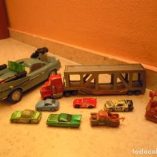 Figuras de Goma y PVC: LOTE CARS DISNEY PIXAR MACK CAMION RAYO MCQUEEN, MC MISSILE SPY,COCHES GRUA MATTE.... Lote 194579685