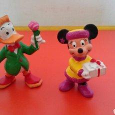 Figuras de Goma y PVC: PATO DONALD Y MINNIE WALT DISNEY.BULLY 80S PINTADO A MANO.. Lote 194629867