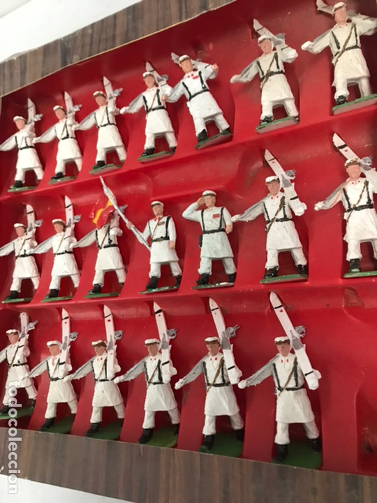 Figuras de Goma y PVC: ANTIGUA CAJA REAMSA - EJÉRCITOS DE ESPAÑA - FIGURAS DE PLÁSTICO FLEXIBLES DECORADAS A MANO - Foto 3 - 194639052