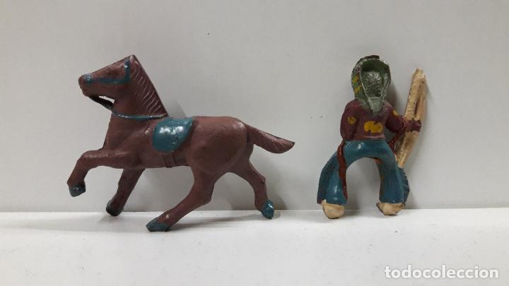Figuras de Goma y PVC: GUERRERO INDIO A CABALLO . POSIBLEMENTE REALIZADO POR CAPELL . AÑOS 50 EN GOMA . ALTURA 5 CM - Foto 6 - 194649705