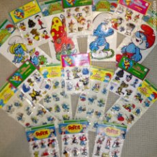 Figuras de Goma y PVC: LOTE MUNDI PAPER 1983 Y TERRY TOONS 1979 PEGATINAS STICKERS MIGHTY MOUSE SÚPER RATON PITUFOS POPEYE. Lote 194691968