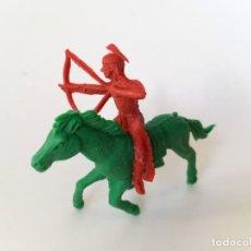 Figuras de Goma y PVC: FIGURAS INDIO Y CABALLO REAMSA. Lote 194695840