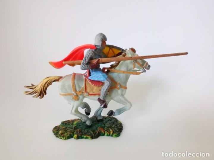 CABALLERO MEDIEVAL ELASTOLIN (Juguetes - Figuras de Goma y Pvc - Comansi y Novolinea)