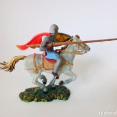 Figuras de Goma y PVC: CABALLERO MEDIEVAL ELASTOLIN. Lote 194697395