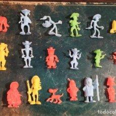 Figuras de Goma y PVC: LUCKY LUKE COLECCIÓN COMPLETA DUNKIN O FALSO DUNKIN. Lote 194723338