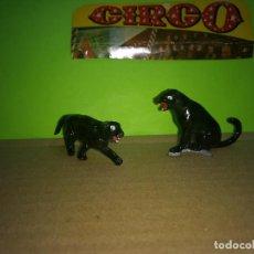 Figuras de Goma y PVC: 2 FIGURAS GOMA PANTERAS CIRCO DIR DOR JECSAN AÑOS 60 EN MUY BUEN ESTADO. Lote 194729917