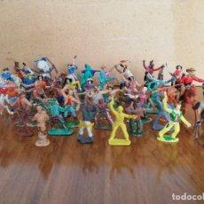 Figuras de Goma y PVC: LOTAZOO DE 59 FIGURAS REAMSA,JECSAN,COMANSI,LAFREDO, ETC...ETC..EN PLASTICO. Lote 194769171
