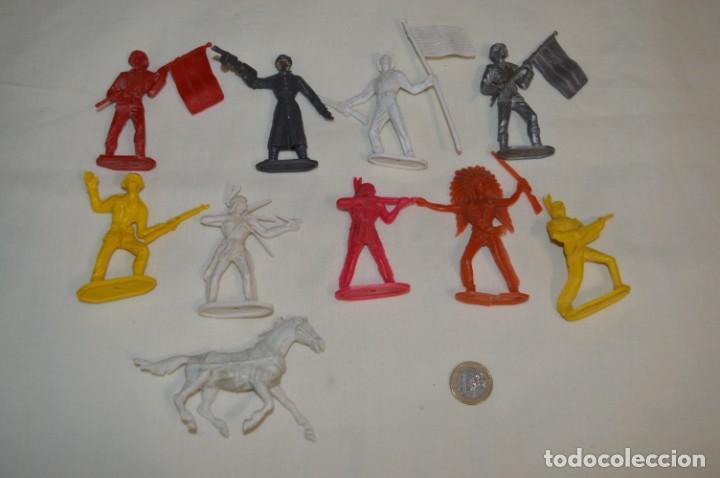 Figuras de Goma y PVC: Lote de COMANSI - Figuras variadas / SOLDADOS e INDIOS - ¡Mirar fotos y detalles! - Foto 2 - 194775692