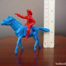 Figuras de Goma y PVC: FIGURA DE VAQUERO A CABALLO EN PLÁSTICO, COPIA DE COMANSI 1ª ÉPOCA Y DE FALOMIR OLIVER.. Lote 194862772