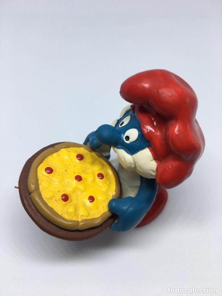 Figuras de Goma y PVC: PAPA PITUFO - CON PIZZA - PIZZERO - SMURF SCHLUMPF- PVC - PITUFO - Foto 2 - 194867892