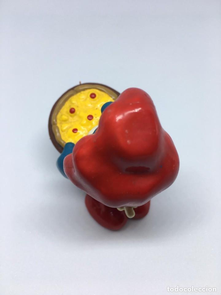 Figuras de Goma y PVC: PAPA PITUFO - CON PIZZA - PIZZERO - SMURF SCHLUMPF- PVC - PITUFO - Foto 3 - 194867892